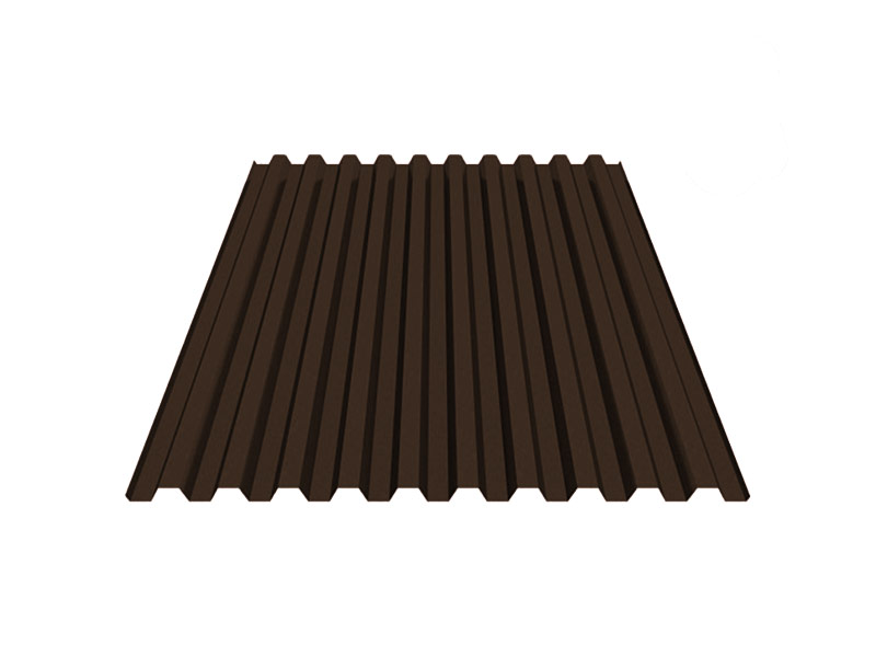 Профнастил С8 шоколадно-коричневый RAL8017 (2000х1200) фото, Профнастил С8 шоколадно-коричневый RAL8017 (2000х1200) картинка, Профнастил С8 шоколадно-коричневый RAL8017 (2000х1200) в Москве фото
